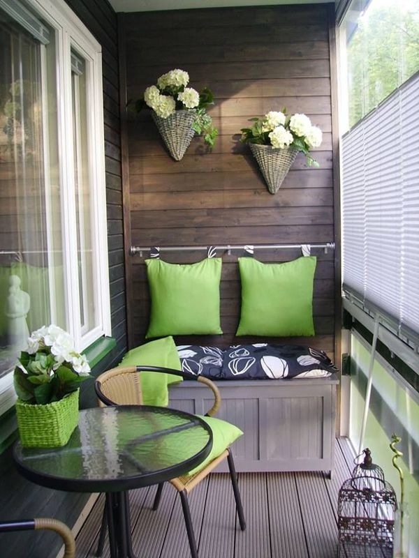 green balcony furniture - small balcony gardens - make the most of the EIJQVVN