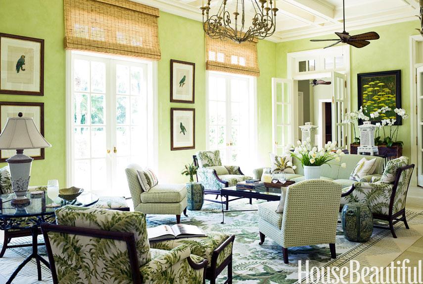 green living room tropical living room PRLRNFE