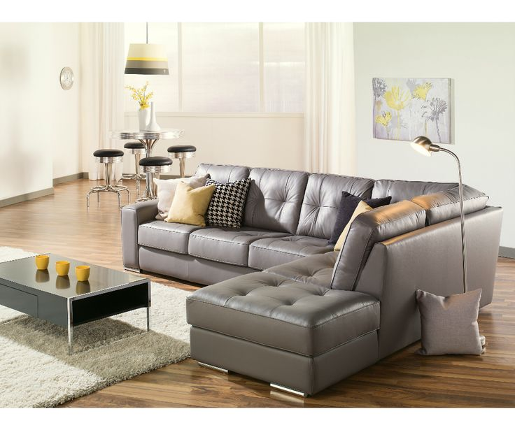 Grey leather sofa – a lavish interior decorating thing