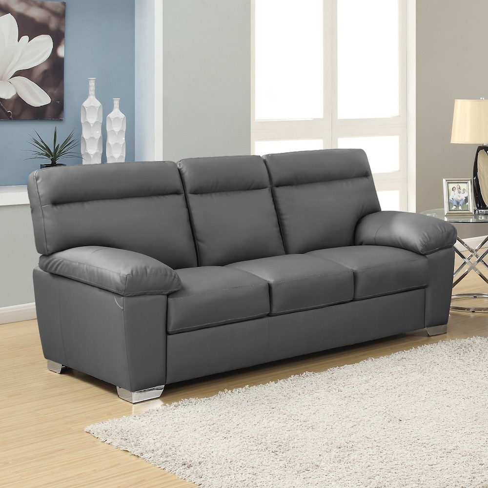 Grey leather sofa grey leather sofa wwwgalleryhipcom the hippest pics KMFVIZH