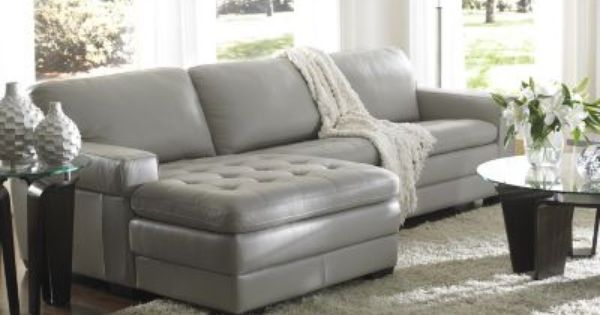 Grey leather sofa i would love to design around this sofa..grey is suppose to be the QOAXZQP