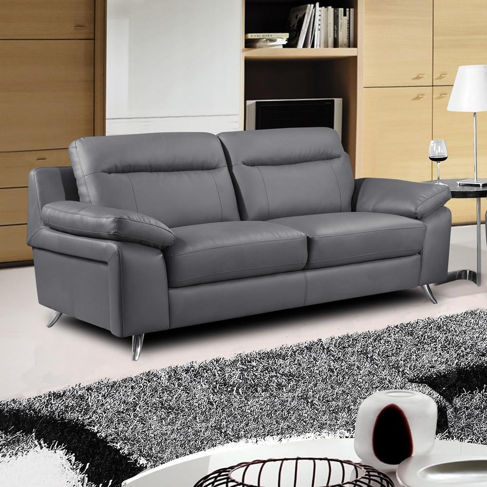 grey leather sofas 54 gray leather sofa, baretto grey nobility leather sofa buy leather sofas ZSOFIFD