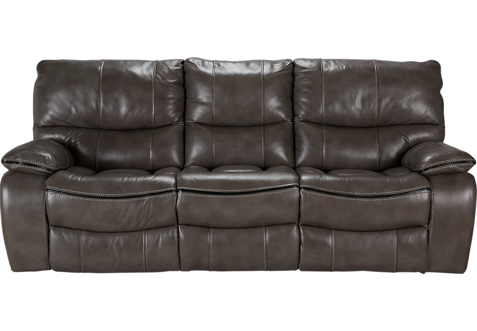 grey leather sofas cindy crawford home gianna gray leather reclining sofa - leather sofas (gray ) NJRFAXW
