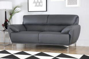 grey leather sofas enzo grey leather sofa 2 seater WBCMVFJ