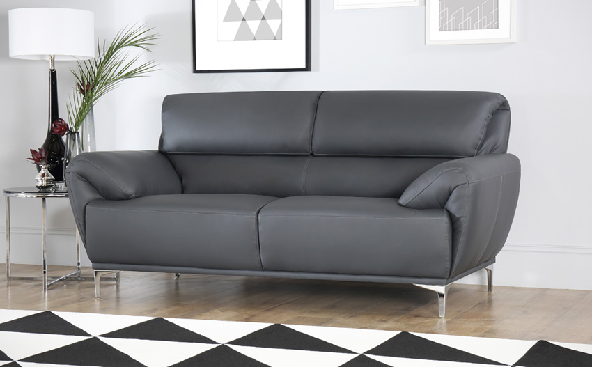 Creating your dream house with grey leather sofa