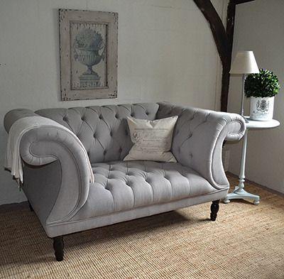 grey sofas chesterfield buttoned sofa: grey button back sofa YQYNSLP