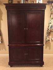 hekman tv armoire stained wood 80 STRKEMB