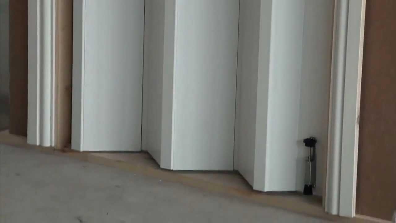 how to install folding doors and bi fold doors - youtube RXEZYNX