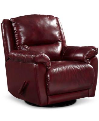 hughstin leather swivel glider recliner VBWBTDM