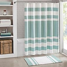 image of madison park spa waffle shower curtain XKFOJYG