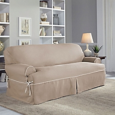 image of perfect fit® classic twill t-sofa slipcover SXGJSFZ