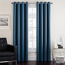 image of twilight room darkening grommet window curtain panel WISCDQW