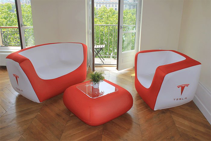 inflatable furniture #094 brick sofa u0026 cubrik chair - tesla TELTBNL