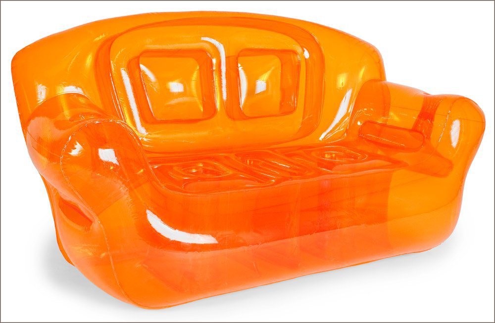 inflatable furnitures inflatable sofa electric orange BYUVDAR