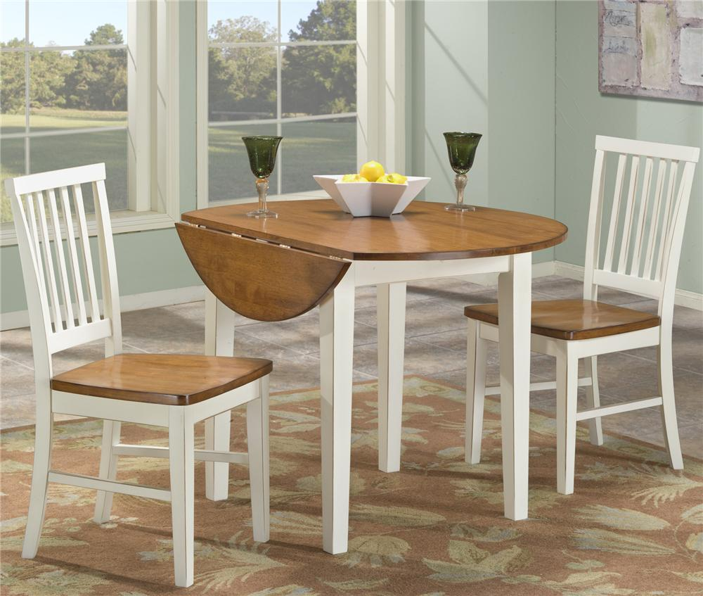 intercon arlington 3 piece dining set with two drop leaves - wayside QRGHDFD
