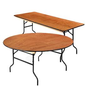 interion® heavy duty plywood folding banquet tables IWTRPOV