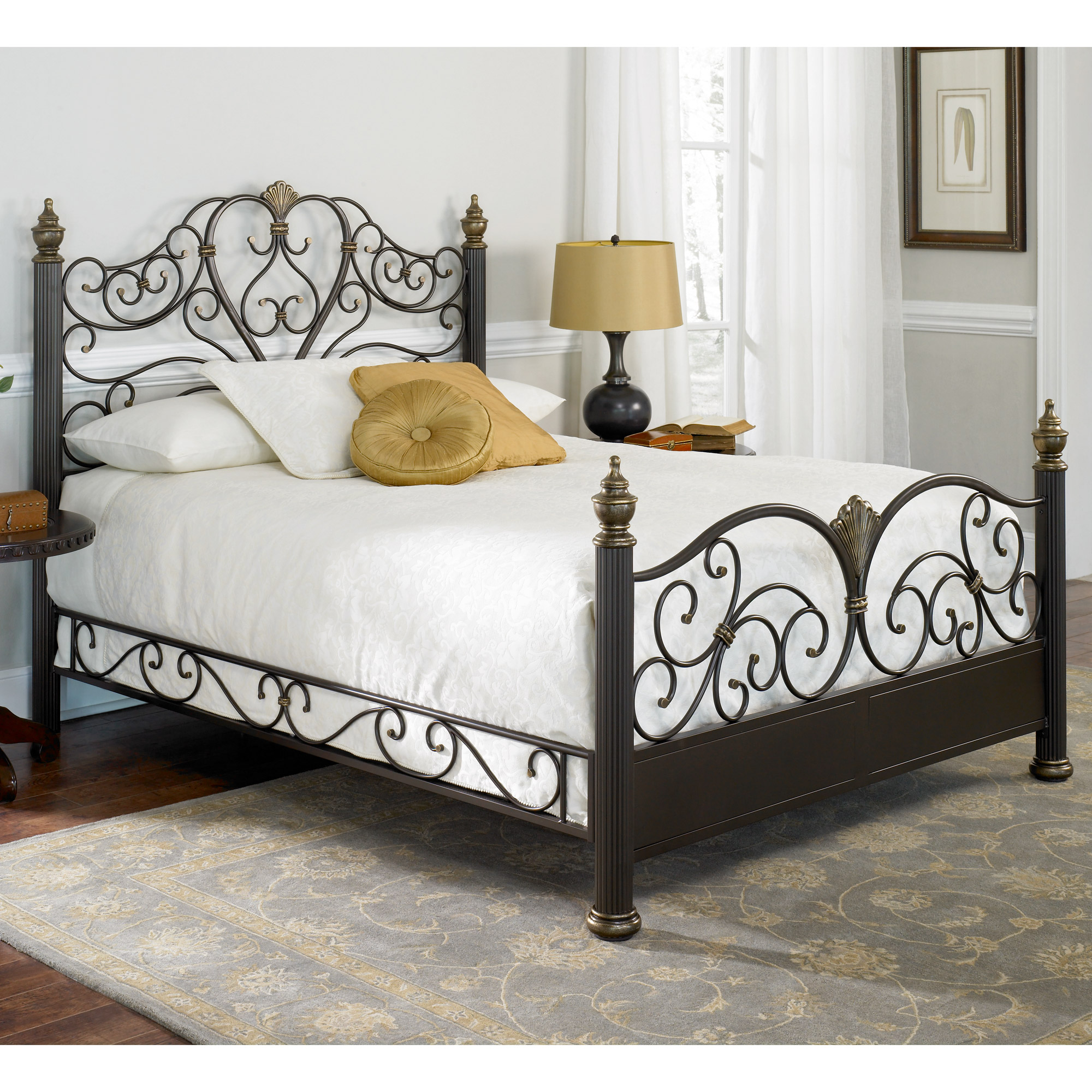 iron beds elegance iron bed ornate victorian design glided truffle finish HXWNLXW
