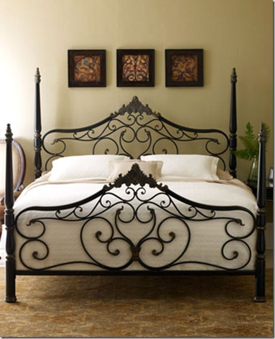 iron beds guinevere bed from horchow - heavy gauge steel in a beautifully scrolled SRXEXRG