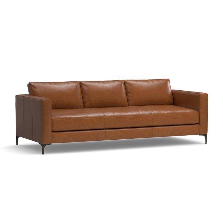 jake leather sofa | pottery barn SWHBRCG