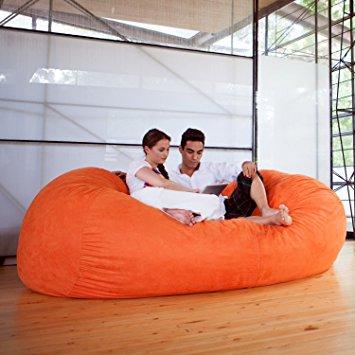 jaxx 7 ft giant bean bag sofa, mandarin VRZCVQK