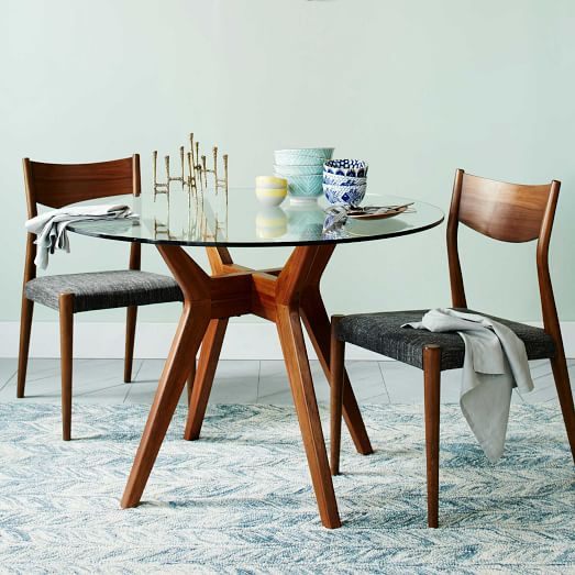 jensen round glass dining table WCOAXSZ