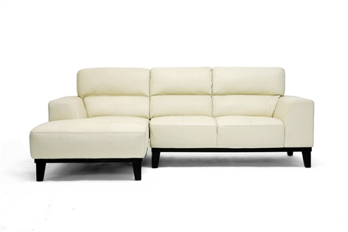 jocelyn cream leather sofa sectional ZKOEHAU