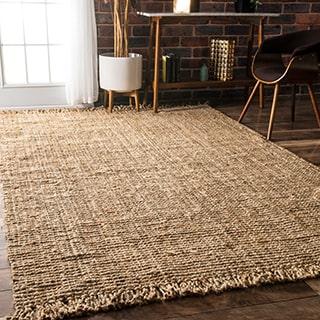 jute rugs handmade braided natural jute reversible area rug (7u00276 x ... BDVVZGE