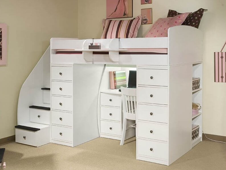 kids beds with storage hereu0027s another white wood bed, this time with an extraordinary amount of RFYEAZK