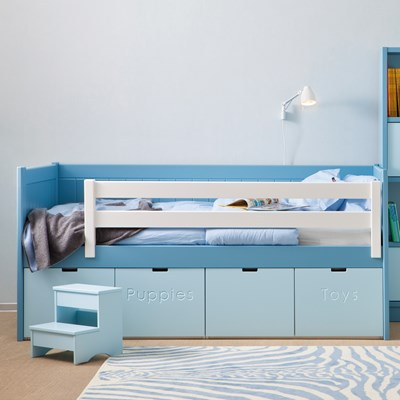 kids beds with storage kids bahia storage bed step stool boys girls beds cuckooland VXPNAPQ