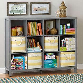kids bookcase cubic bookcase (grey, 12-cube) WUEPJIJ