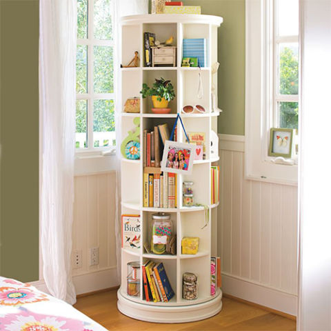kids bookcase pbteen revolving bookcase HYZGVQZ