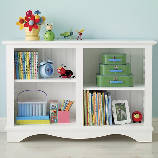 kids bookcase the land of nod | kidsu0027 bookcases: kids honey cottage style low beadboard VZQNCWV