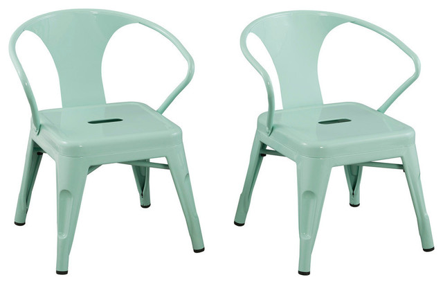 kids chairs by reservation seating, mint green , set of 2 industrial-kids- FIDVEDJ