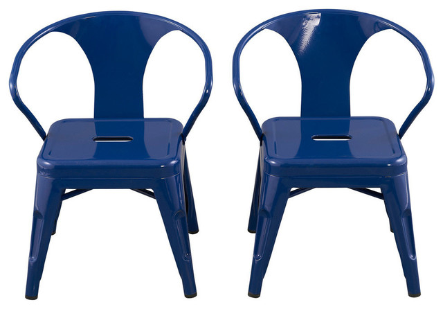 kids chairs by reservation seating, navy, set of 2 industrial-kids-chairs YCSEYZB