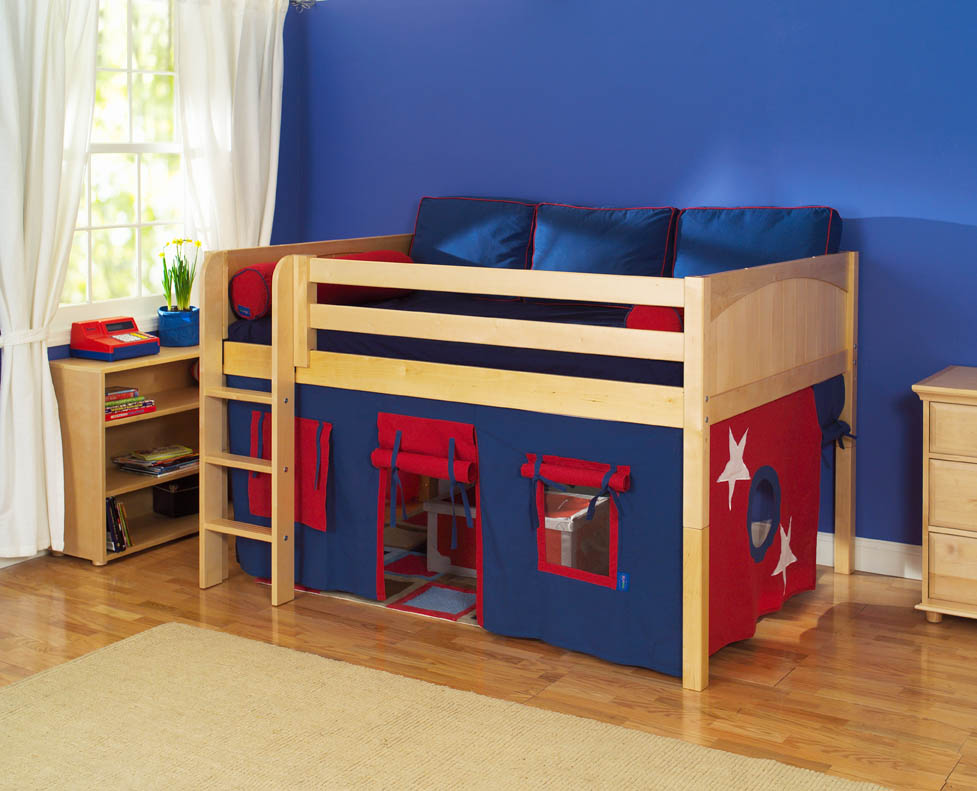 Save space in kids room with loft bed