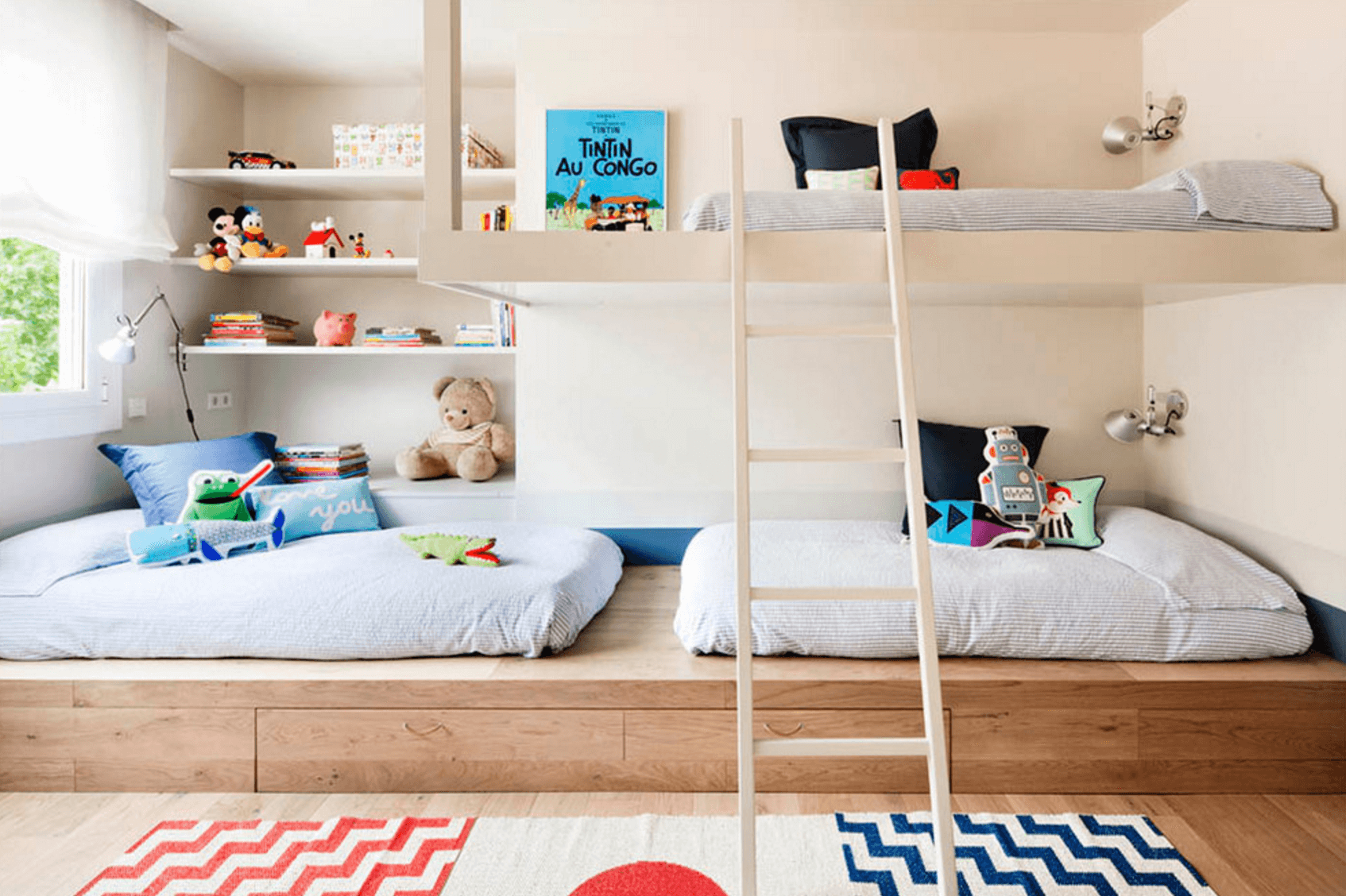 kids room ideas contemporary neutral bedroom HFVTIMH