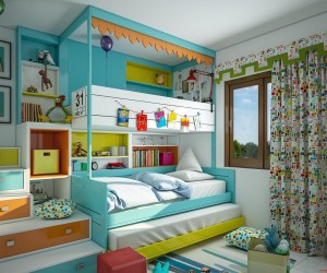 kids room ideas super-colorful bedroom ideas for kids and teens ORRSXTO