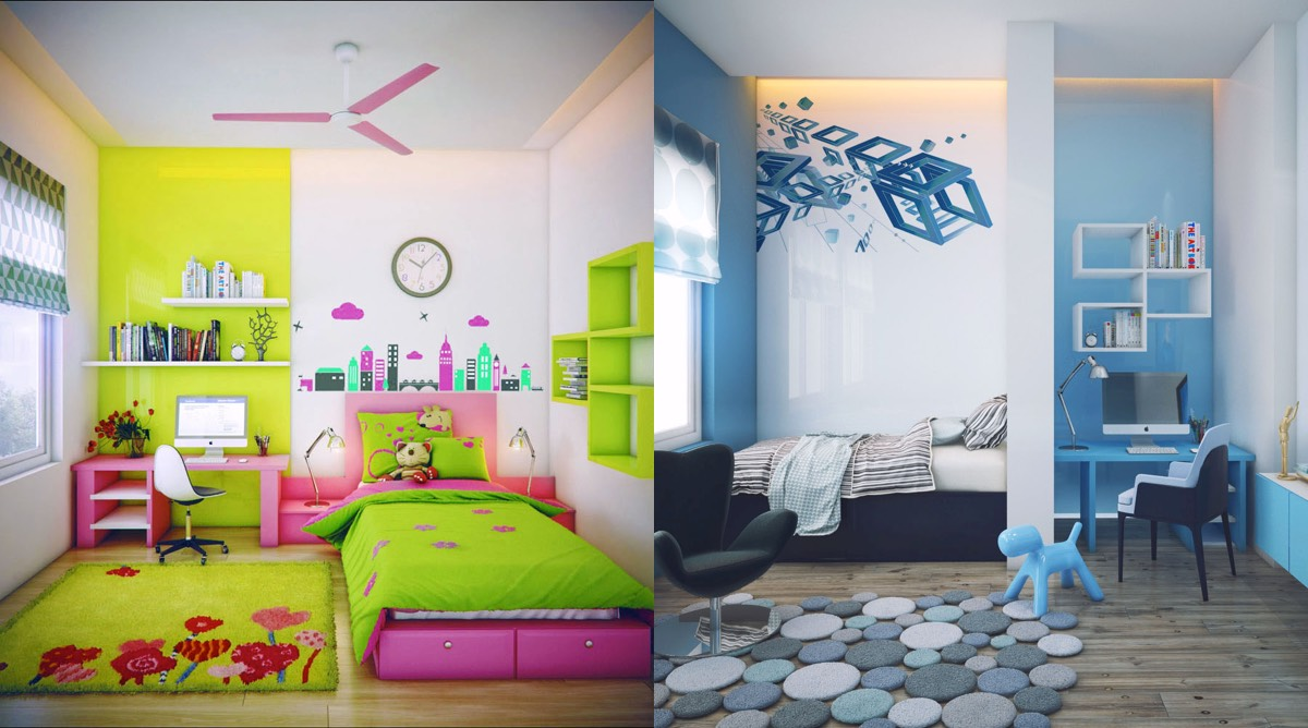 Kids Room super-colorful bedroom ideas for kids and teens EWUNGBX