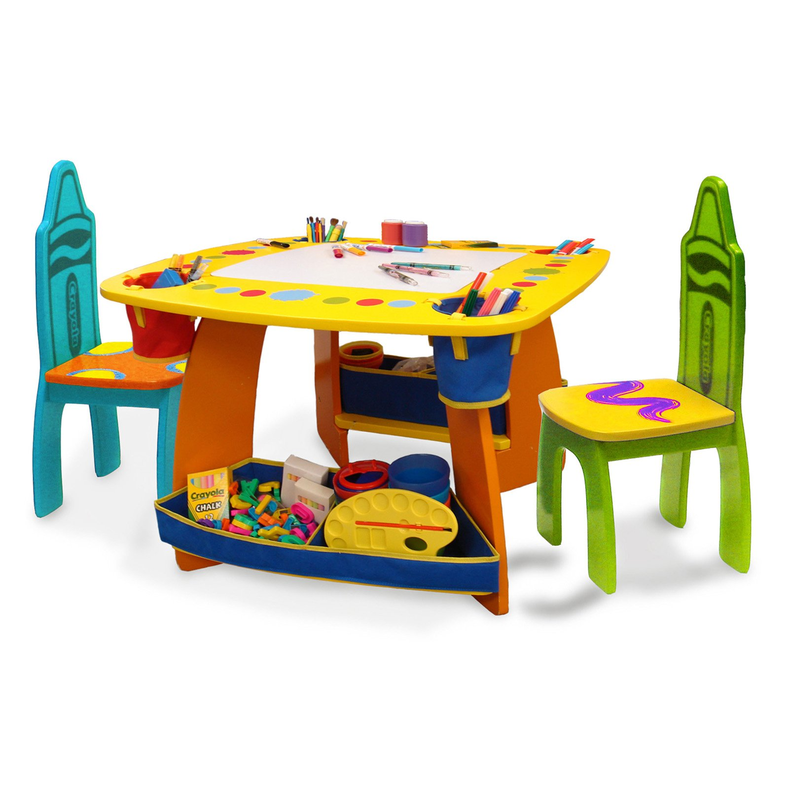kids table and chairs 3-piece childrenu0027s table and chairs, espresso - walmart.com PBGDZXF