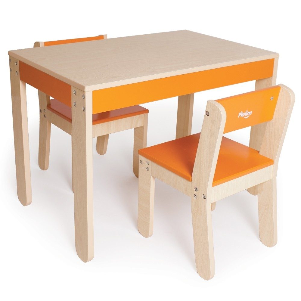 kids table and chairs children little oneu0027s table and chairs - orange - pkolino - pkfftcorg QWKRQRL