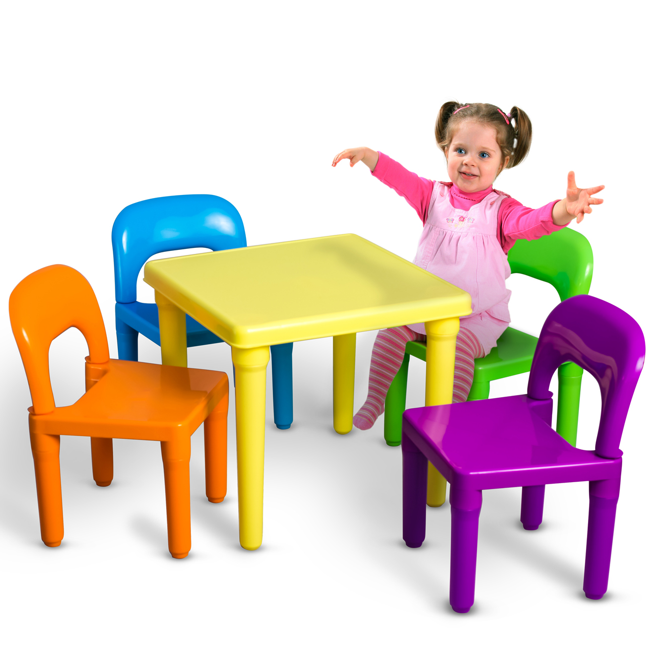 Kids table and chairs oxgord kids table and chairs play set for toddler child toy activity ACMSUFZ