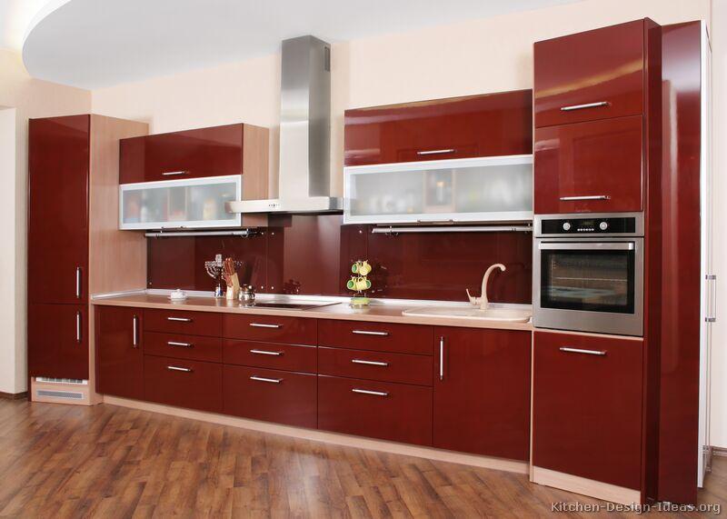 kitchen cabinets design modern red kitchen RWQKPCO