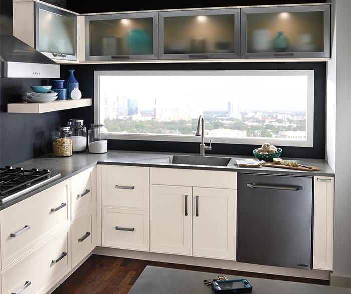 kitchen cabinets design ... off white kitchen cabinets by kitchen craft cabinetry ... KGEEZWO