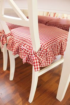 kitchen chair cushions i like these red gingham seat covers. YAJHQYQ
