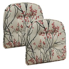 kitchen chair cushions myla gripper tufted dining chair cushion (set of 2) IJJBRIY