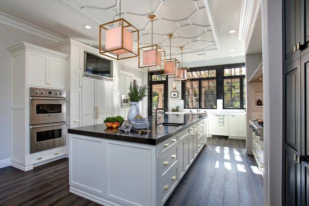 kitchen flooring option white transitional chefu0027s kitchen with patterned ceiling SJRIOUI