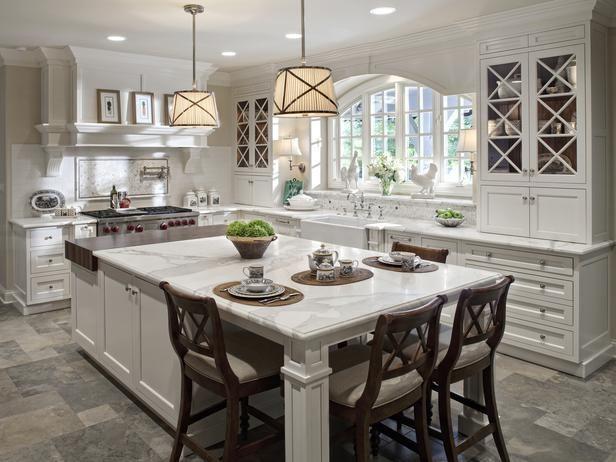 kitchen island table traditional | kitchens | shazalynn cavin-winfrey : designer portfolio :  hgtv - JPFWFOQ