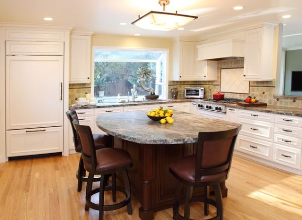 kitchen island tables ... kitchen island, featuring sleek bar stools view in gallery ... VYNZNTY