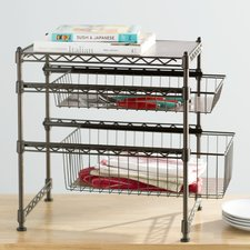 kitchen organizers wayfair basics stackable kitchen cabinet organizer OSGASXG