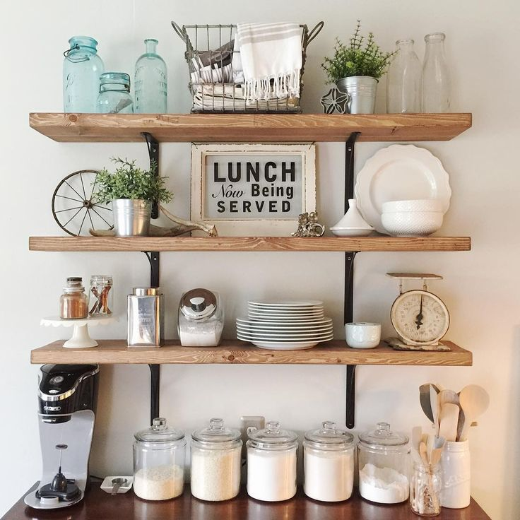 kitchen shelves open shelving in the kitchen AQOBHBH
